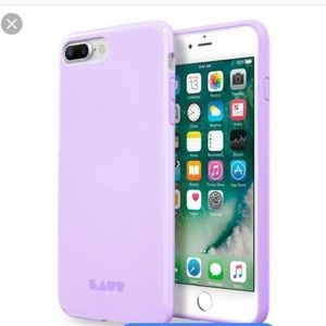 iPhone 7and 8 plus LAUT lilac phone case